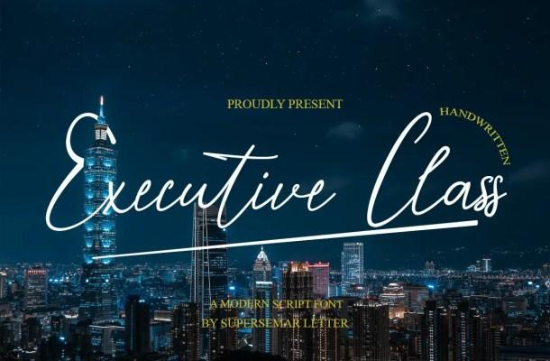 Executive Class Font
