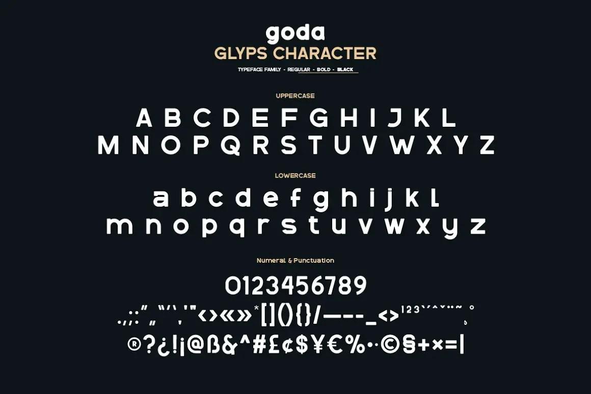 Goda Elegant Sans Serif Font -3