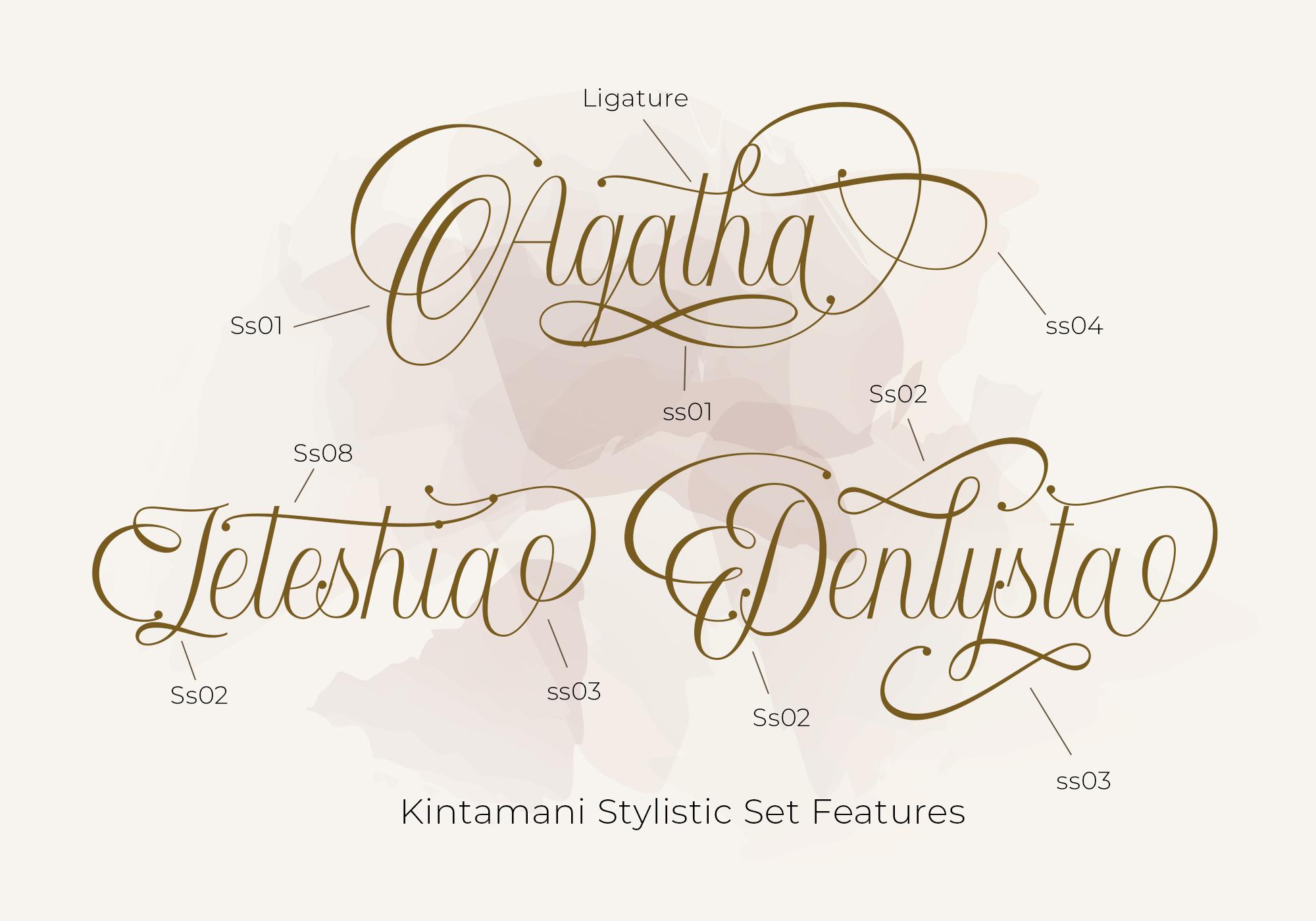 Kintamani Modern Calligraphy Font -2