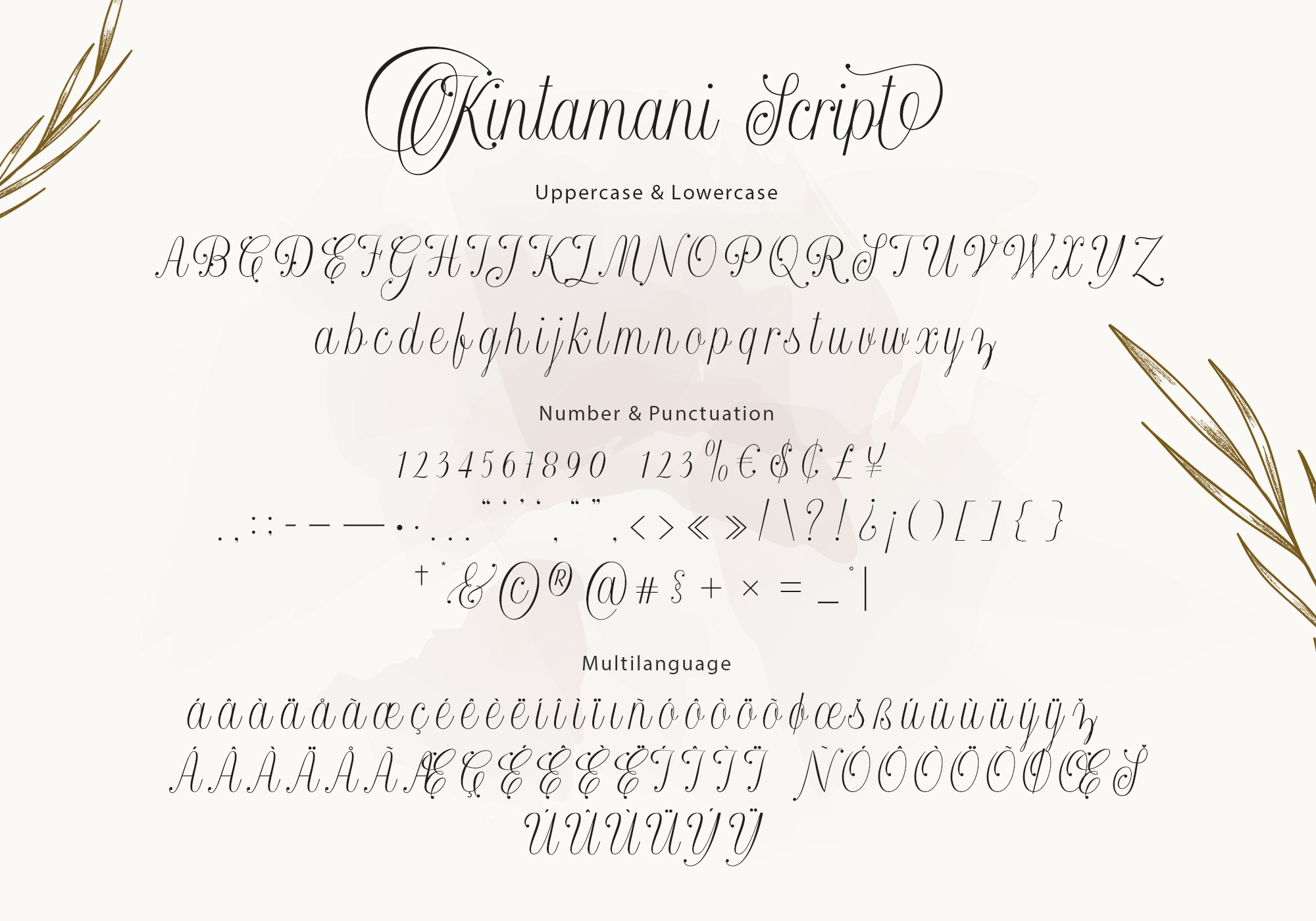Kintamani Modern Calligraphy Font -3