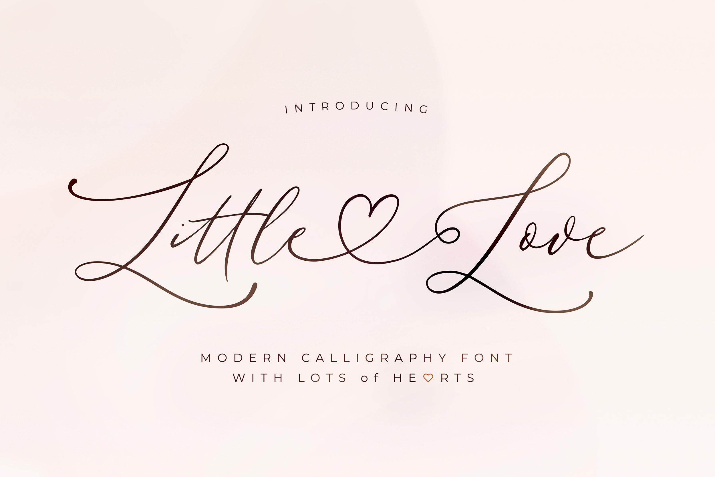 Little Love ModernCalligraphy Font -1