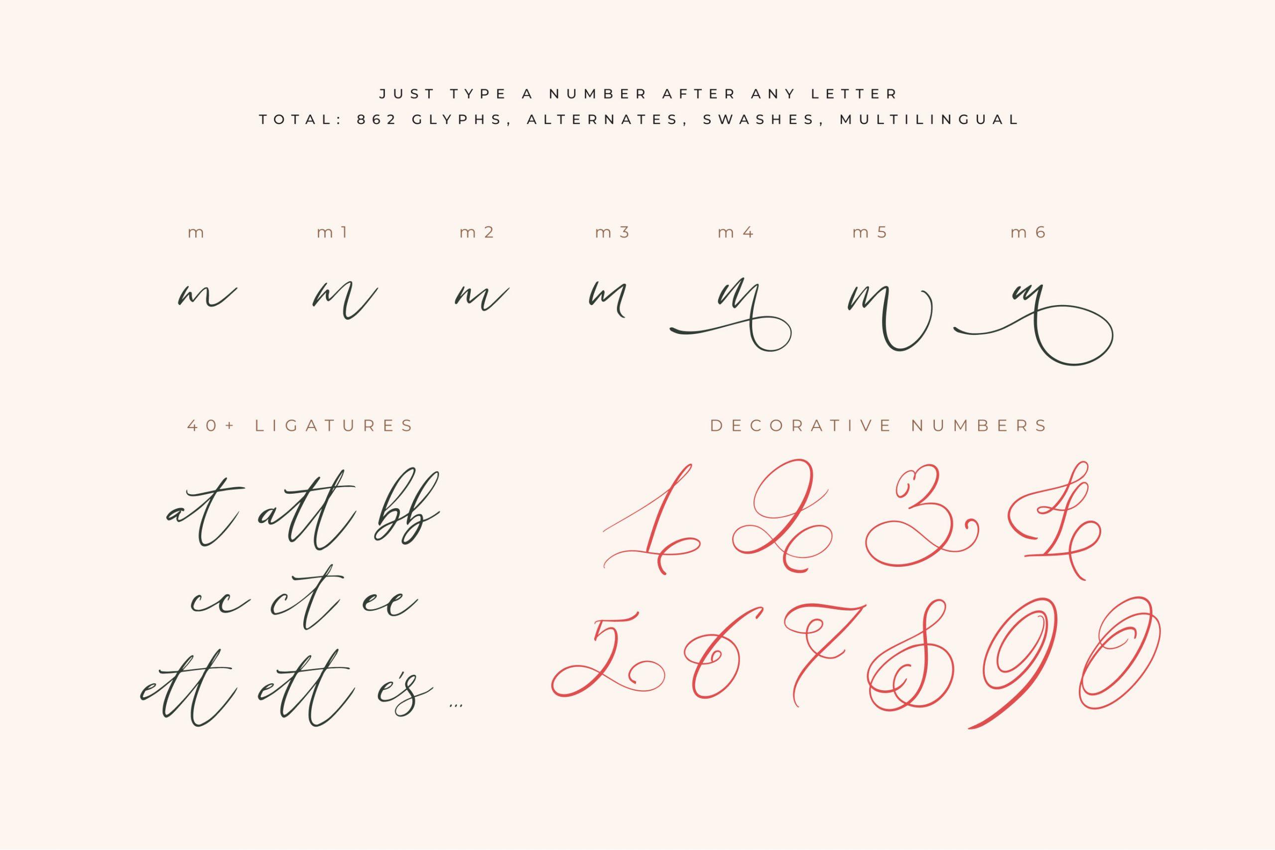 Little Love ModernCalligraphy Font -3