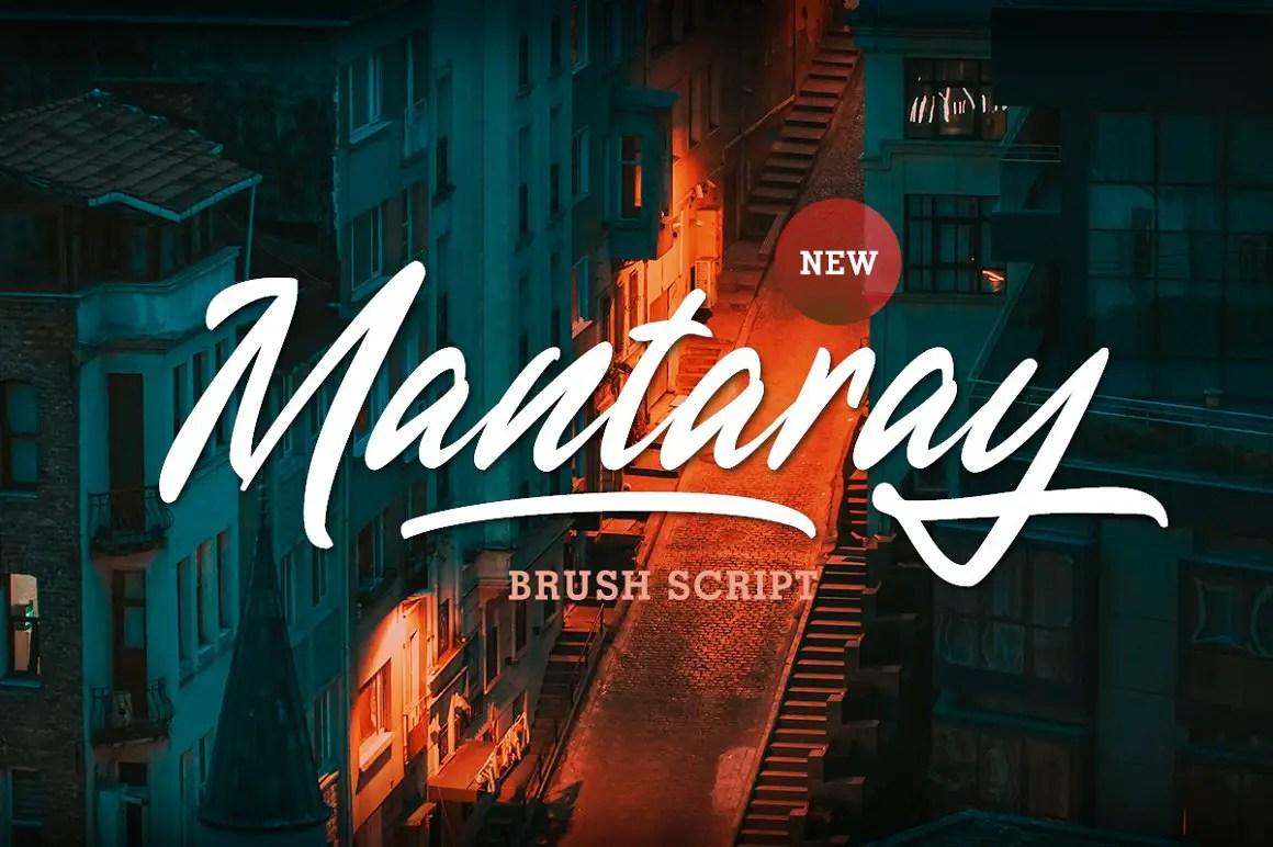 Mantaray Brush Script Font -1