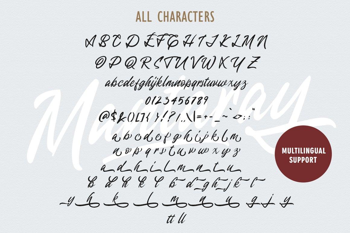 Mantaray Brush Script Font -3