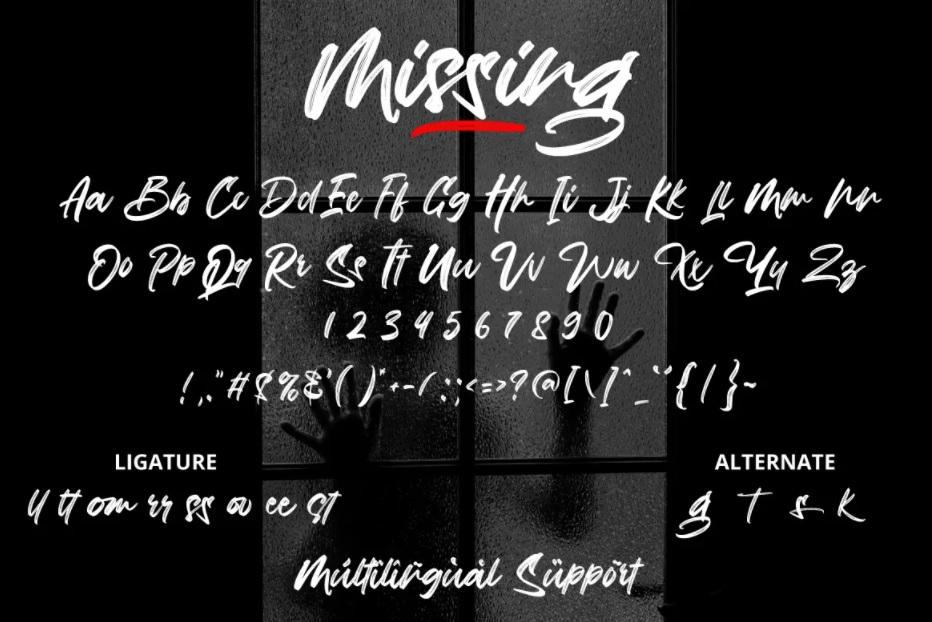 Missing Freestyle Brush Font -3