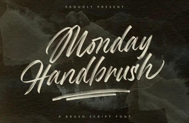 Monday Handbrush Font