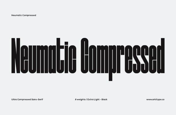 Neumatic Compressed Font