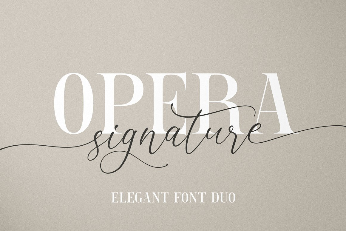 Opera Signature Font Duo -1