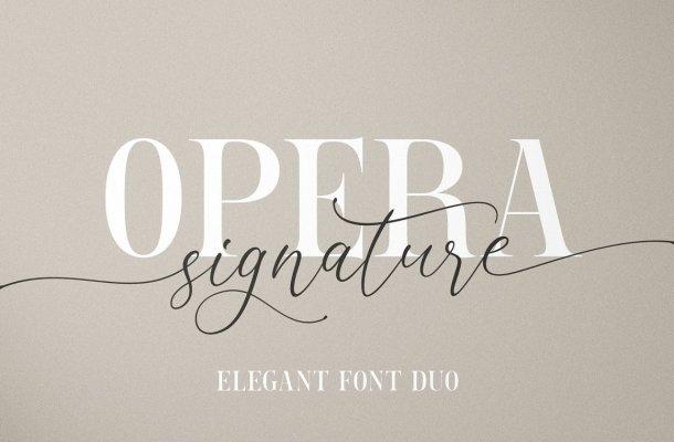Opera Signature Font