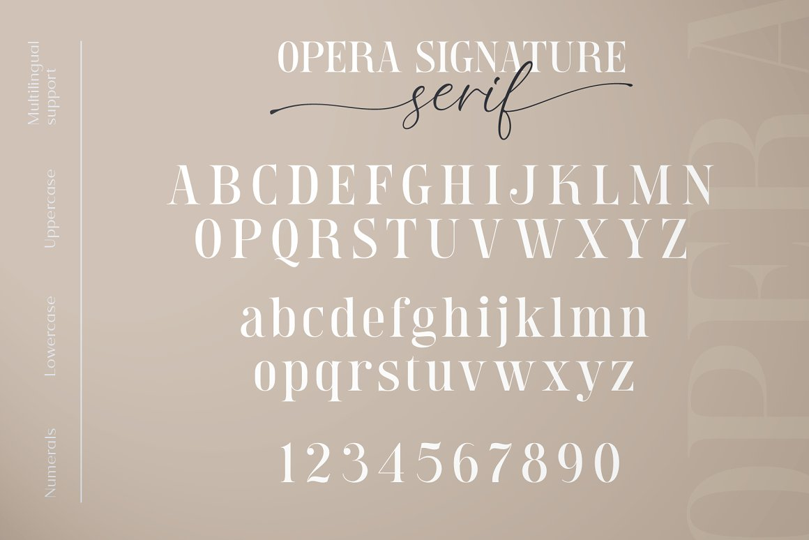 Opera Signature Font Duo -2