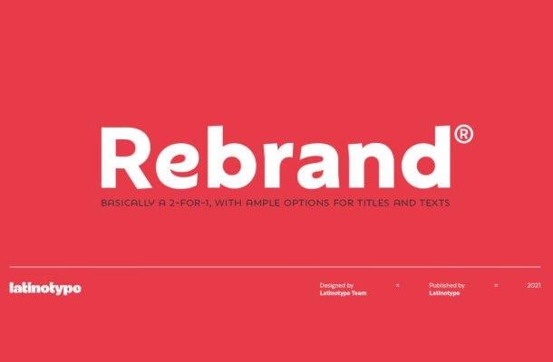 Rebrand Font Family