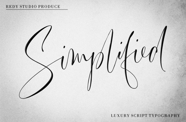 Simplified Font
