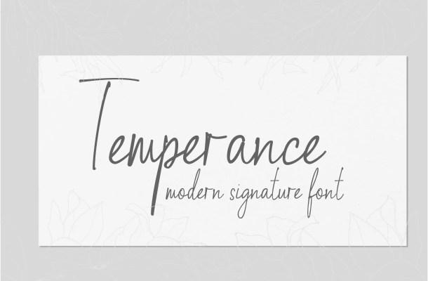 Temperance Font
