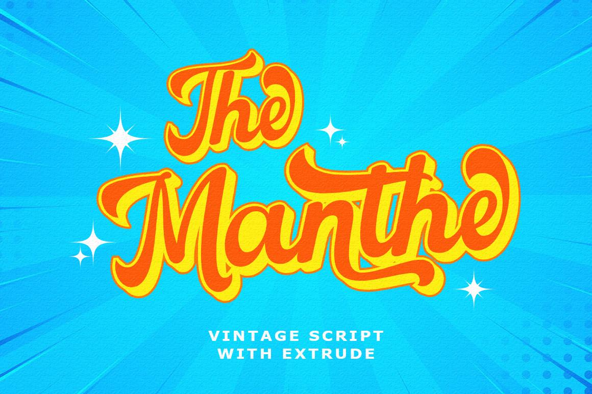 The Manthe Bold Retro Font -1