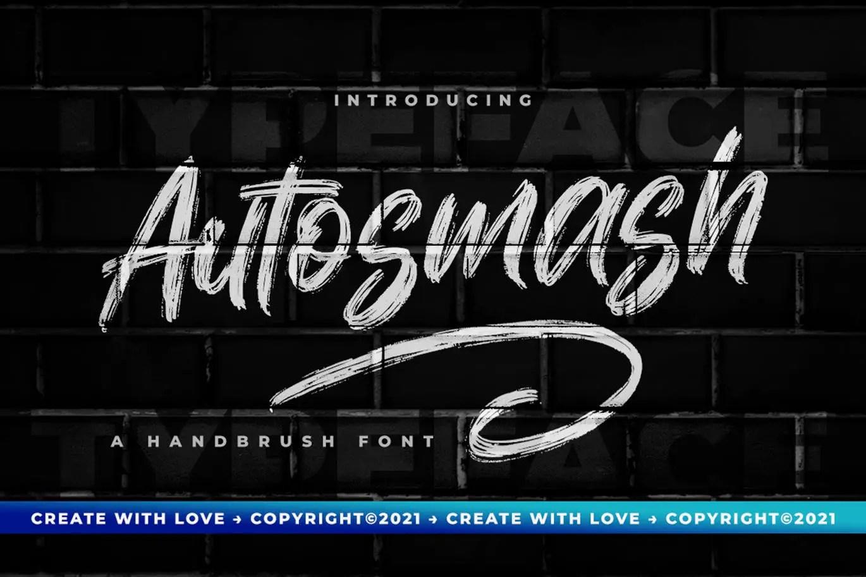 Autosmash Brush Script Font -1