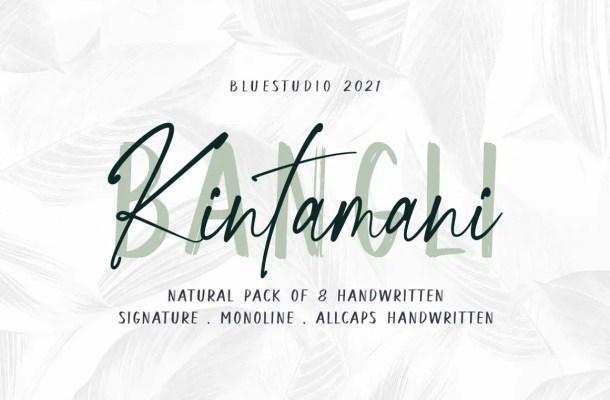 Bangli Kintamani Font