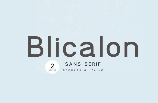 Blicalon Font