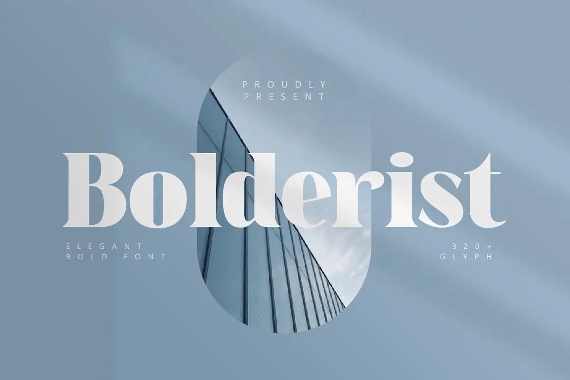 Bolderist Serif Font -1