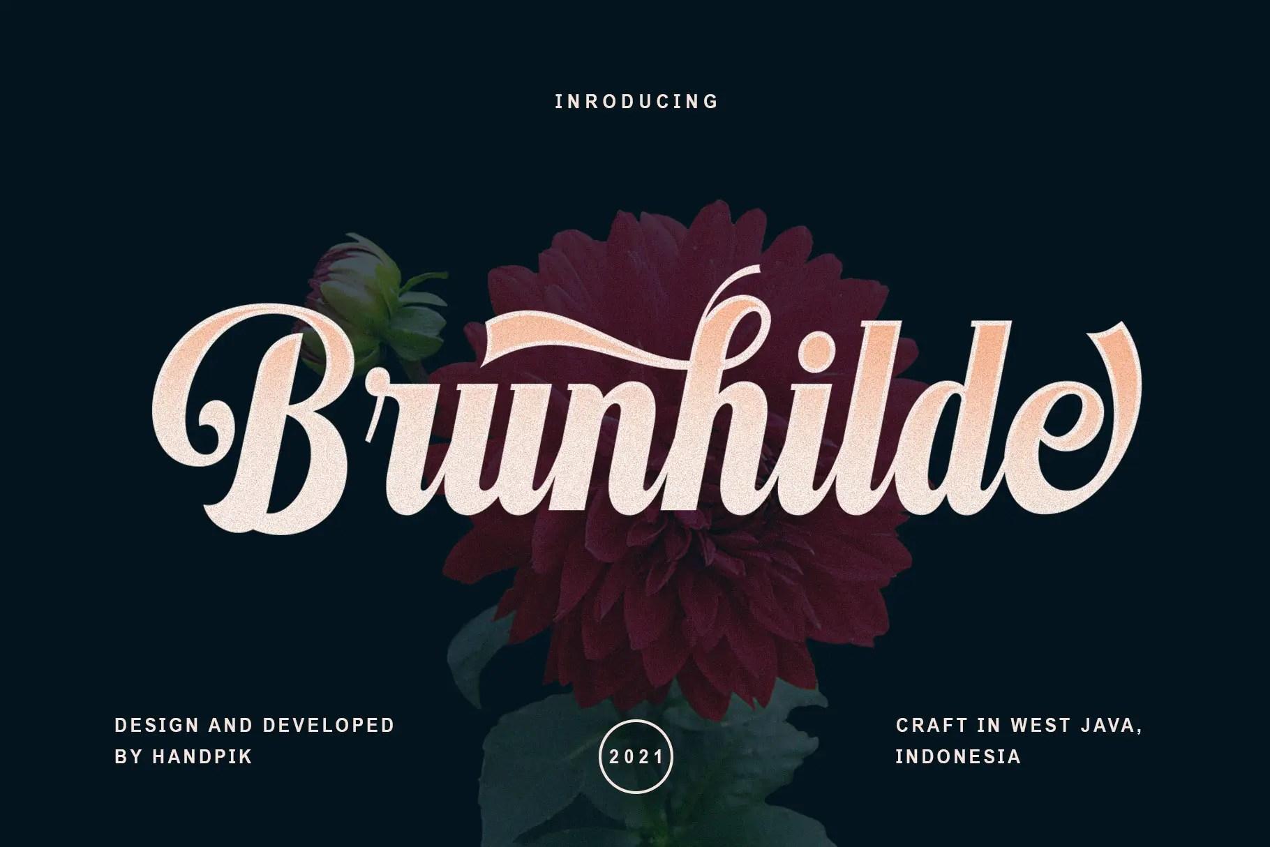 Brunhilde Bold Script Font -1