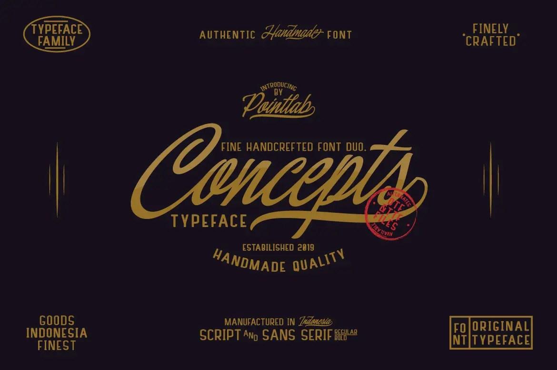 Concepts Calligraphy Script Font -1