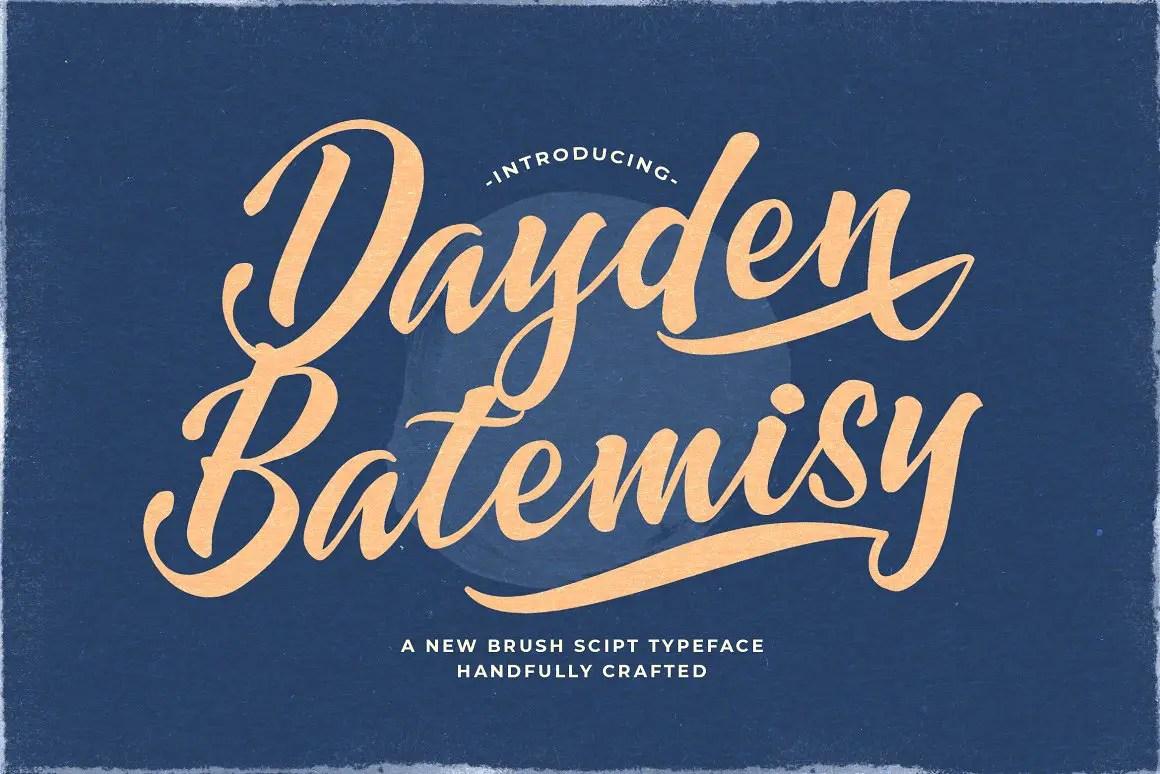 Dayden Batemisy Brush Script Font -1