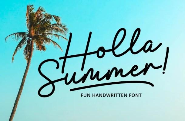 Holla Summer Font