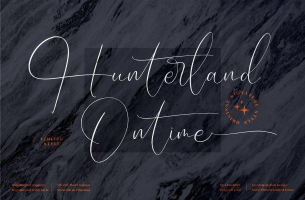 Hunterland Ontime Font
