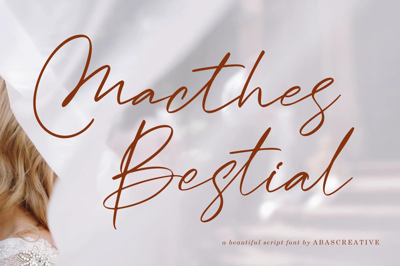 Macthes Bestial Handwritten Font -1