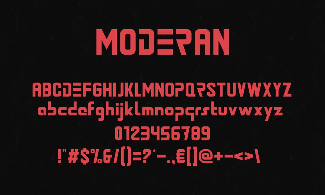 Moderan Display Font -3