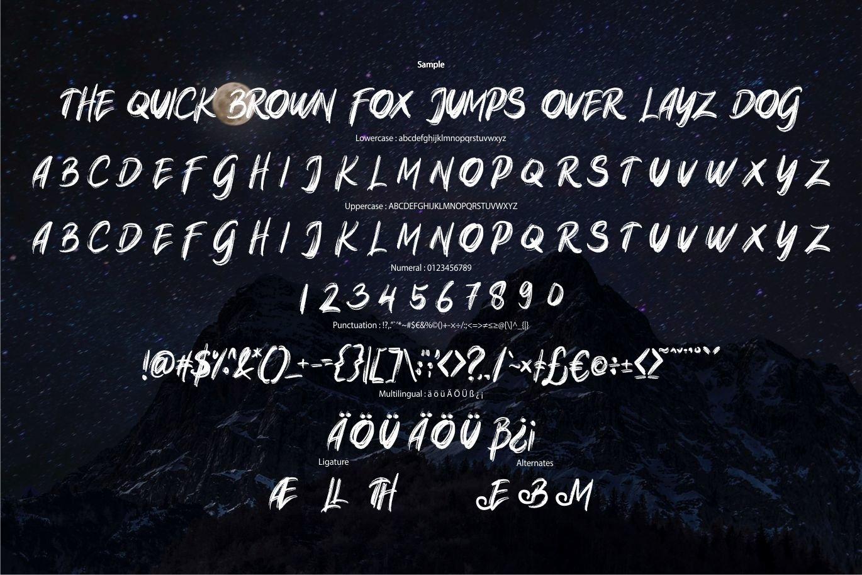 Native Original Brush Font -3