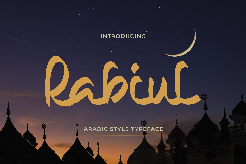 Rabiul Arabic Style Typeface -1