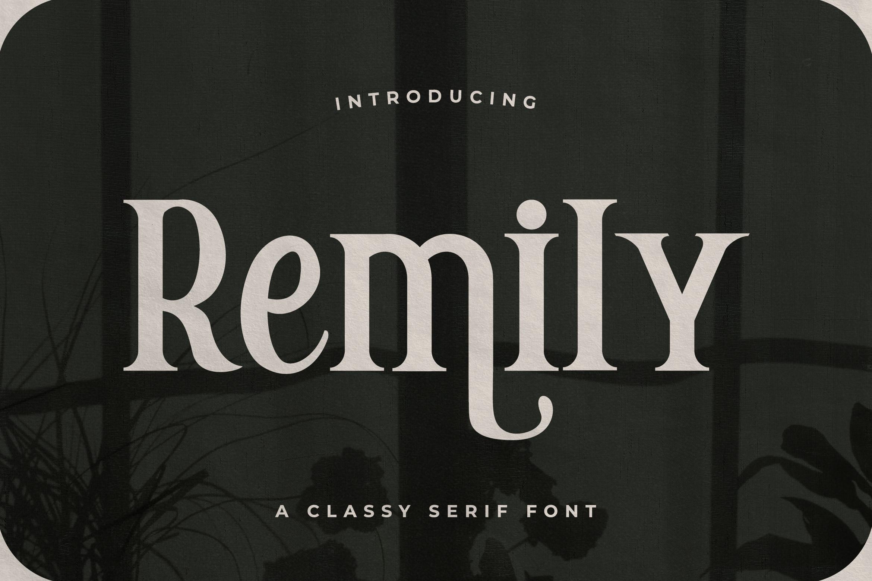 Remily ClassySerif Font -1