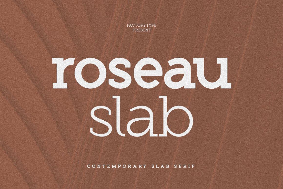 Roseau Slab Serif Font -1