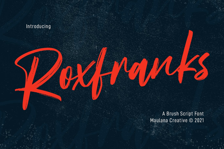 Roxfranks Brush Script Font -1
