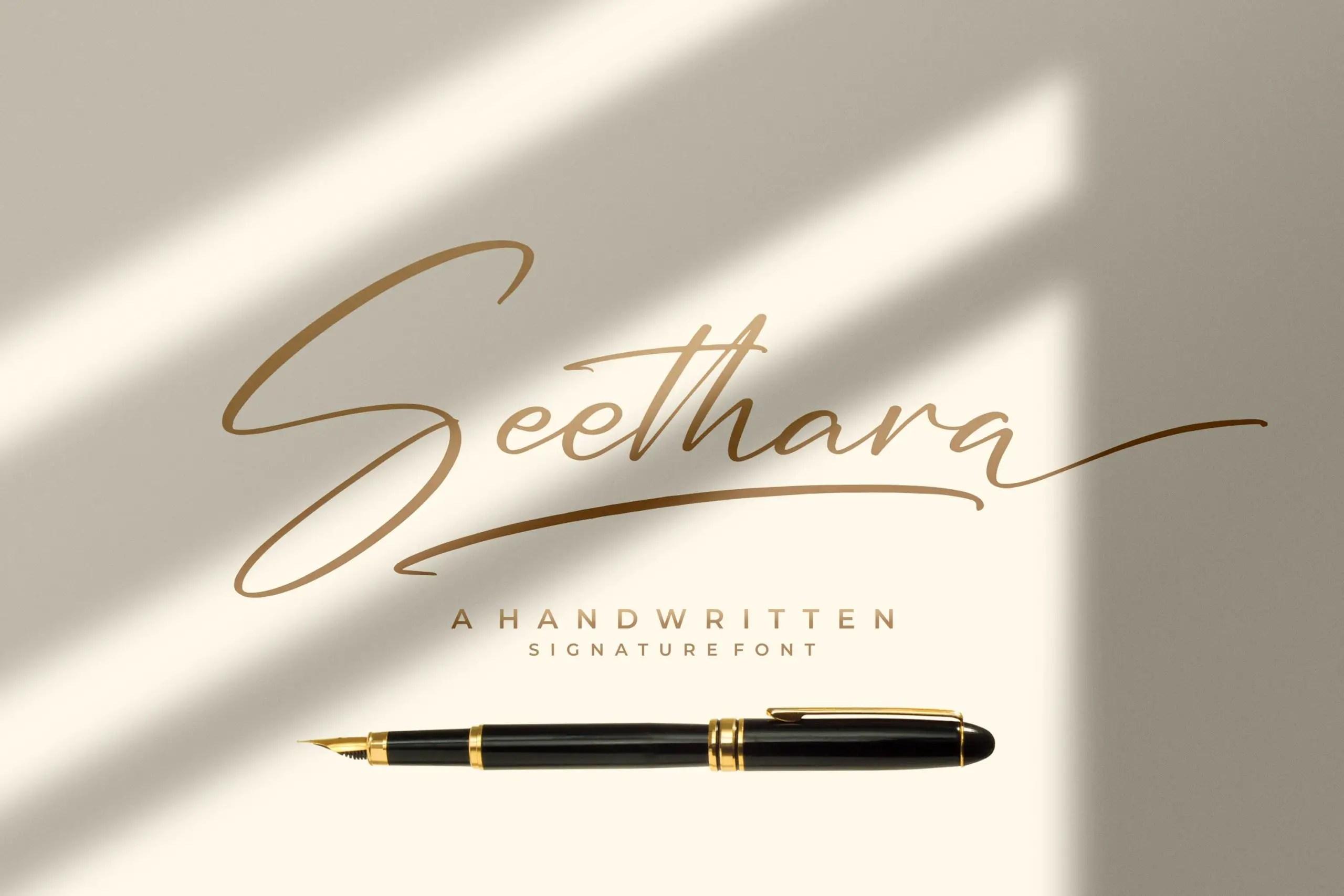Seethara Signature Script Font -1