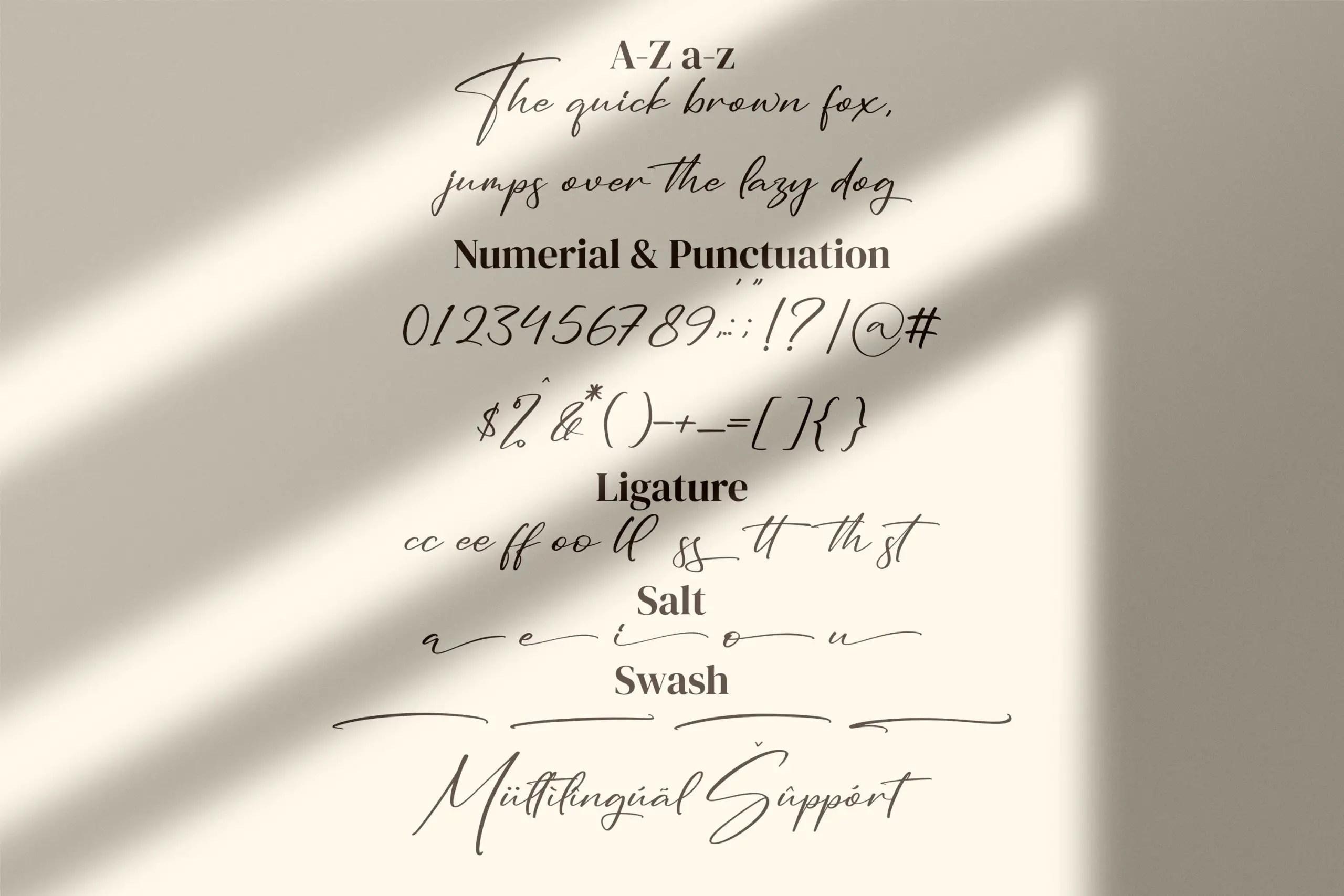 Seethara Signature Script Font -3