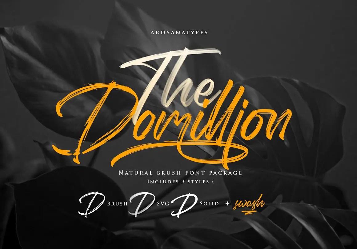 The Domillion Brush Script Font -1