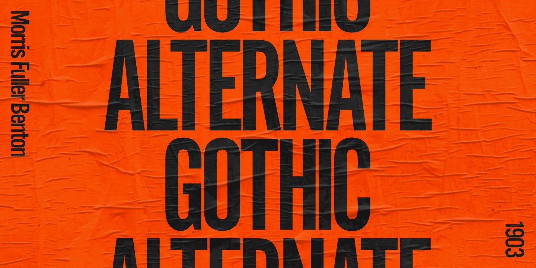 Alternate Gothic Font Family -1