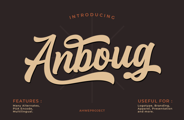 Anboug Font