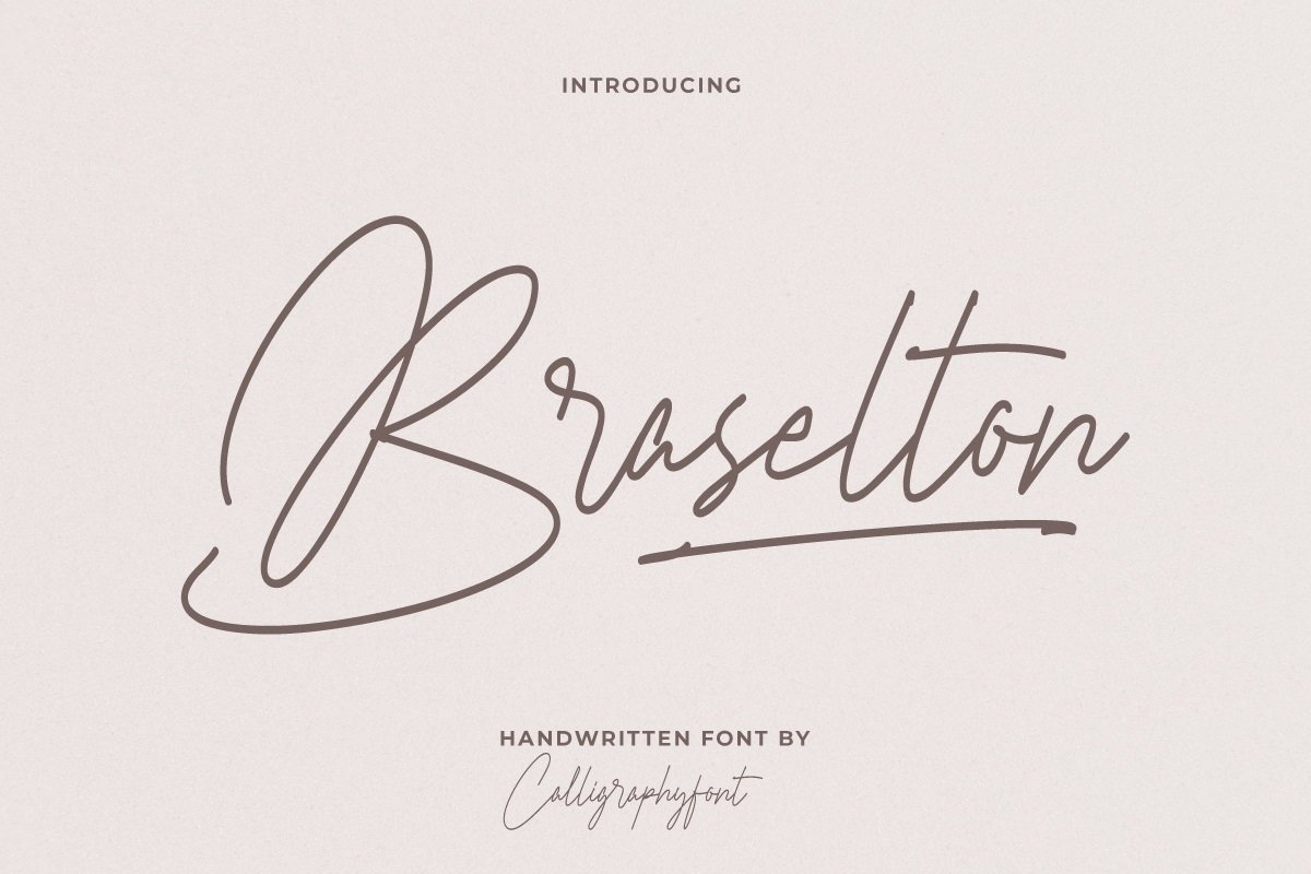 Braselton Handwritten Font -1