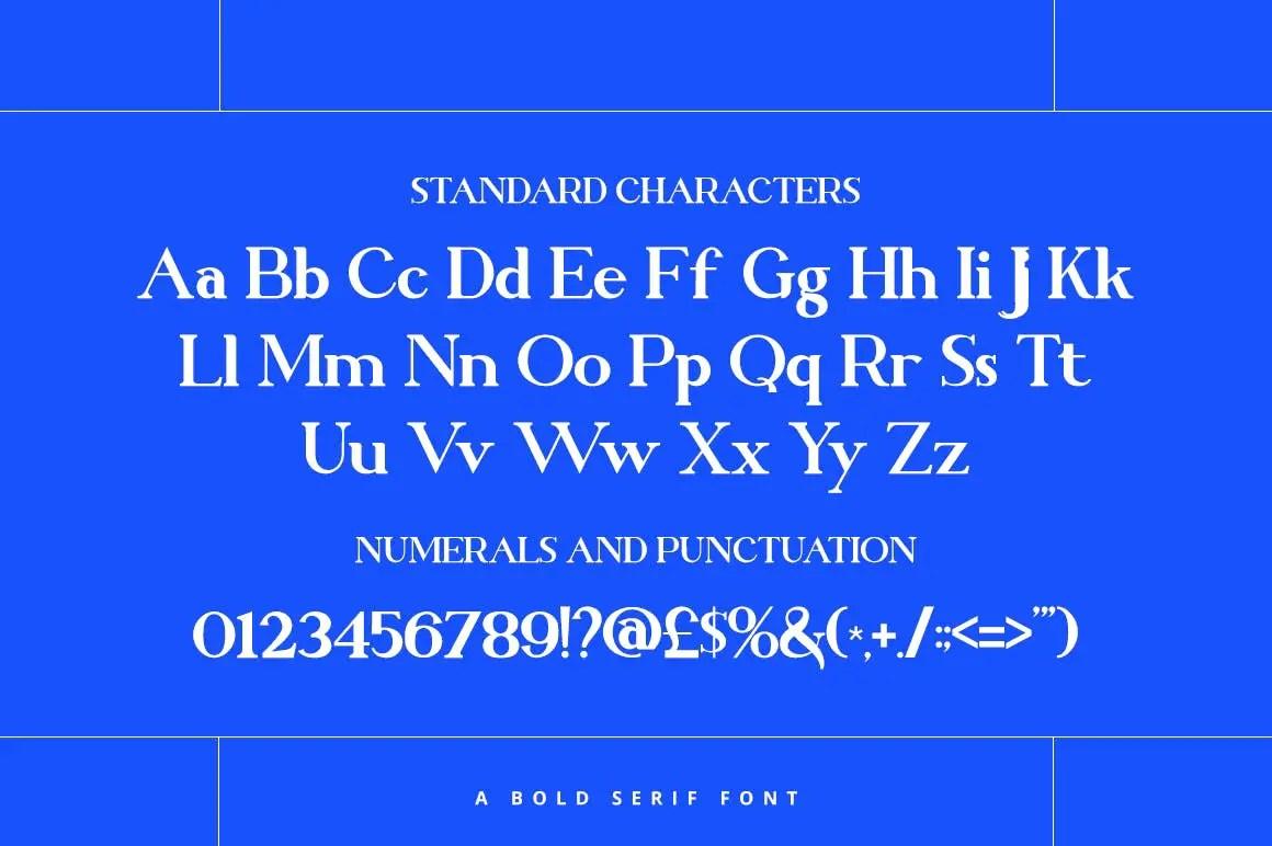Brilliant Bold Serif Font -3