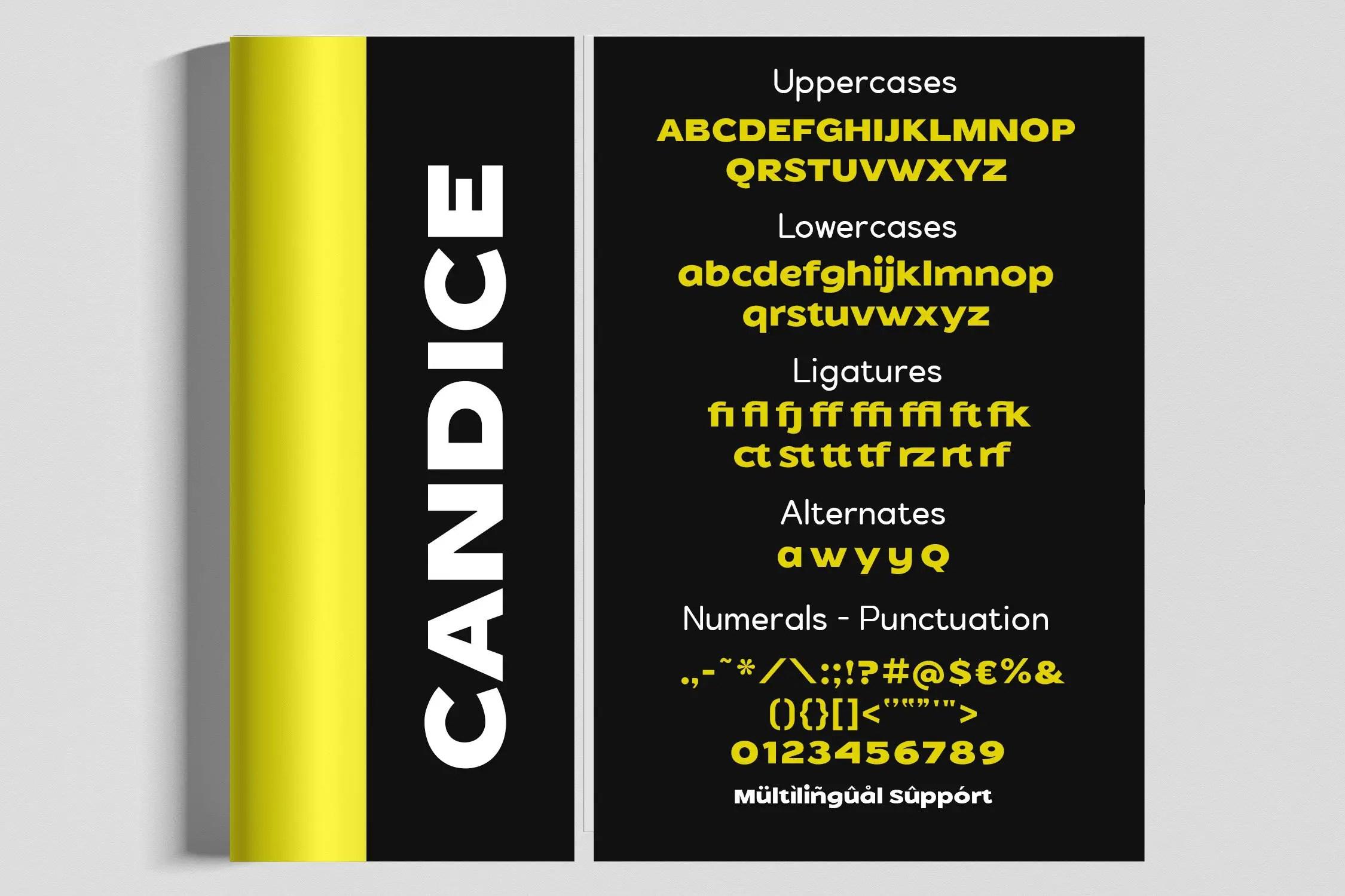 Candice Bold Sans Serif Font -3