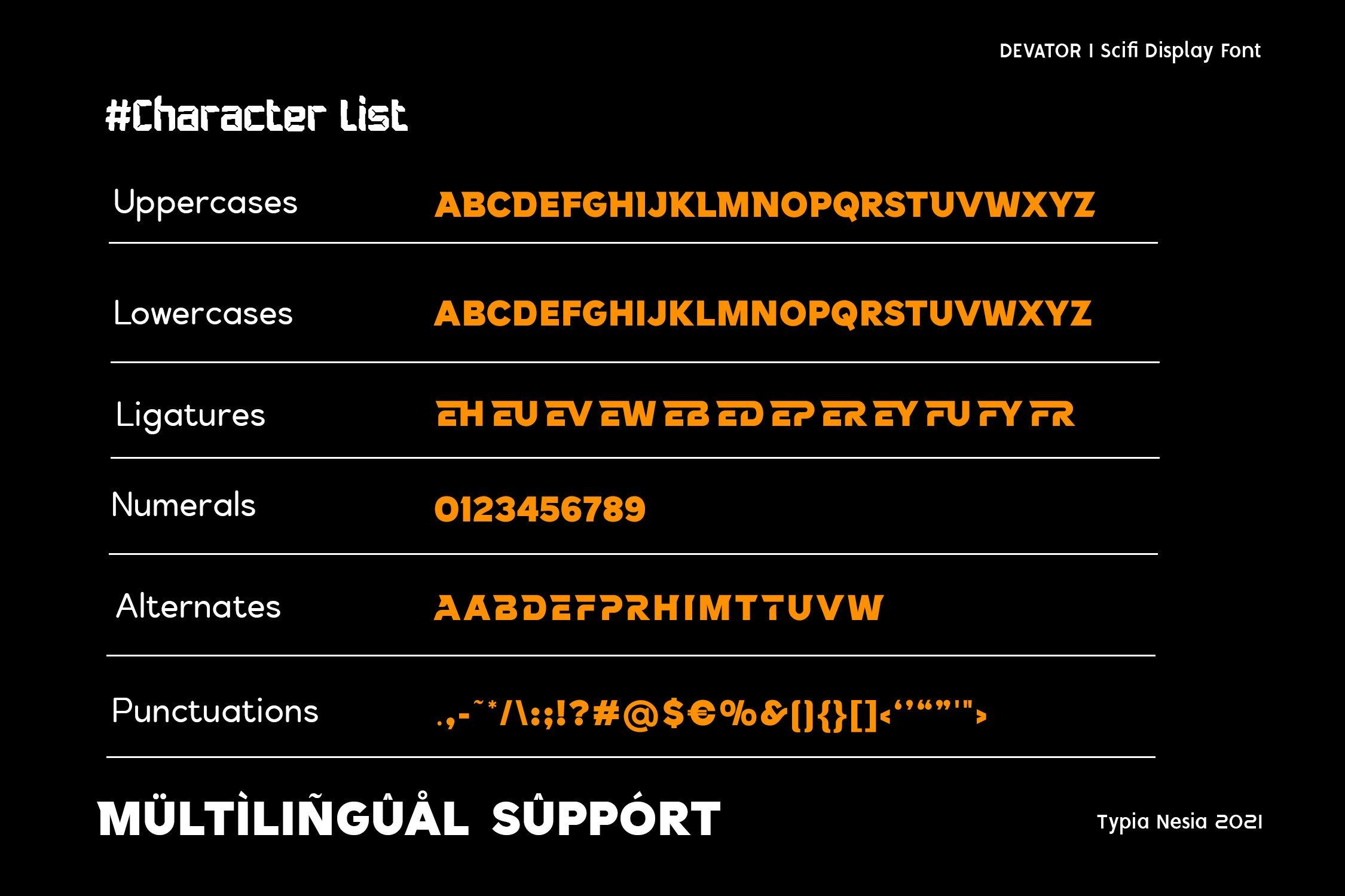 Devator Modern Display Font -3