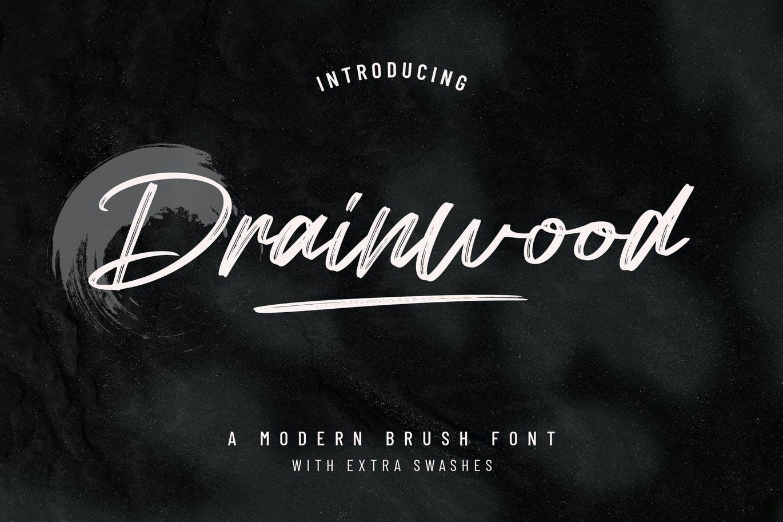 Drainwood Modern Brush Font -1