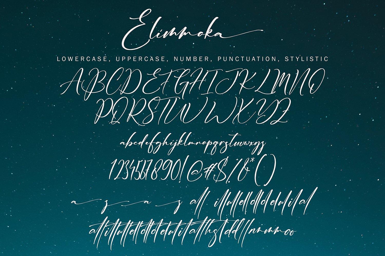 ElimmokaModernScript Font -3