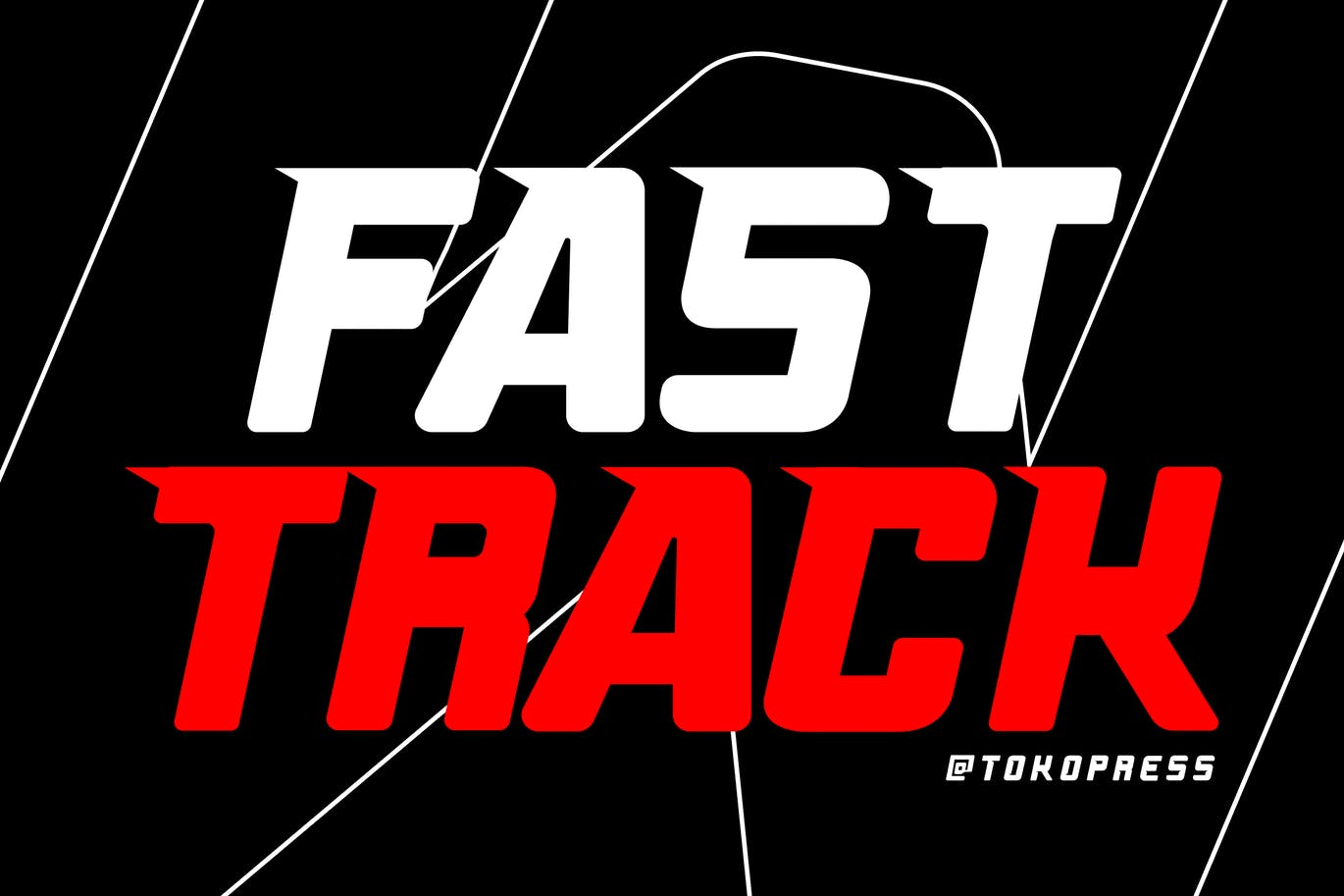 Fast Track Racing Gaming Font -1