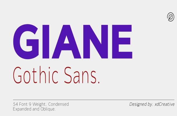 Giane Gothic Sans Font Family