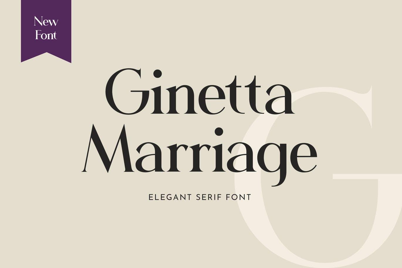 Ginetta Marriage Serif Font -1