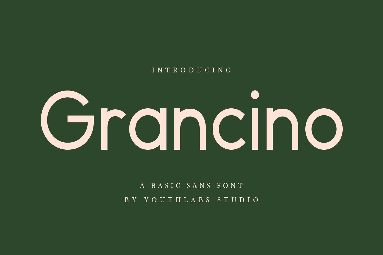 Grancino Sans Serif Font -1