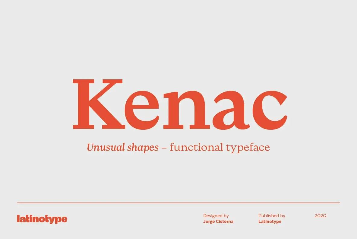 Kenac Modern Serif Typeface -1